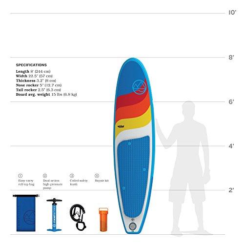 Jimmy Styks Airsurf 8 Longboard Surfboard 8 Long 22 5 Wide