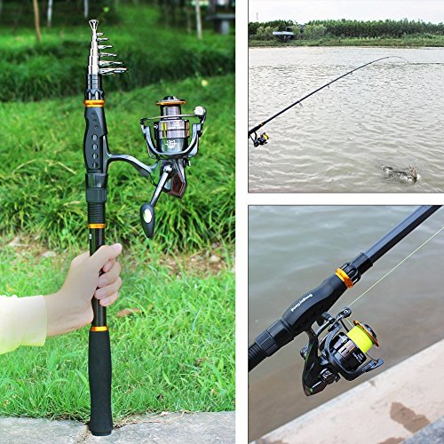 fc656329028 Sougayilang Fishing Rod Reel Combos Carbon Telescopic Fishing Rod Pole with Spinning  Reel Line Lures Accessories Combo Sea Saltwater Freshwater Fishing Rod ...